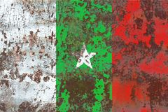 Casamance grunge flag, dependent territory flag. Old flag Royalty Free Stock Photography