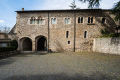 Casamari修道院在Ciociaria,弗罗西诺内,意大利 图库摄影