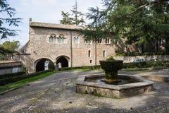 Casamari修道院在Ciociaria,弗罗西诺内,意大利 免版税库存照片