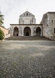 Casamari Abbey in Ciociaria, Frosinone, Italy. Casamari Abbey in Ciociaria, Veroli, Frosinone, Italy stock photo