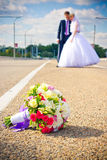 Casamento. Abrace os pares loving Foto de Stock Royalty Free