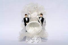Casamento alegre de dois noivos Fotografia de Stock Royalty Free