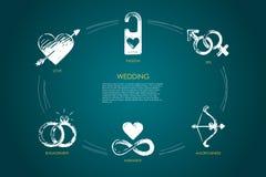Casamento - amor, sexo, acoplamento, harmonia, amorousness, grupo do conceito do vetor da paixão ilustração do vetor
