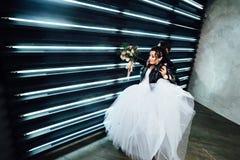 Casamento ao estilo da rocha Casamento do balancim ou do motociclista Imagem de Stock Royalty Free
