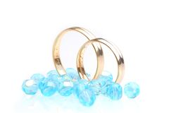 Casamento azul Fotos de Stock