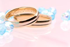 Casamento azul fotografia de stock royalty free