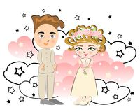 Casamento bonito Foto de Stock Royalty Free