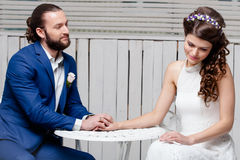 Casamento bonito das noivas Imagem de Stock Royalty Free