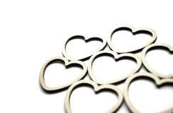 Casamento branco do fundo dos corações e dia de Valentim foto de stock