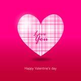 Casamento cor-de-rosa do ícone do coração do cartão do cartão do dia de Valentim da ilustração do vetor do coração Imagens de Stock Royalty Free