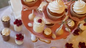 Casamento da barra de chocolate, bufete dos doces, barra de chocolate deliciosa em um casamento filme