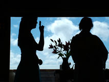 Casamento da língua de sinal Imagens de Stock Royalty Free