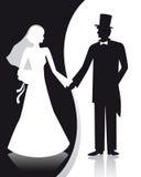 Casamento de B&W Imagem de Stock Royalty Free