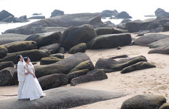 Casamento de praia Imagem de Stock Royalty Free
