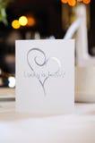Casamento do cartão Fotos de Stock Royalty Free