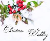 Casamento do Natal Imagem de Stock Royalty Free