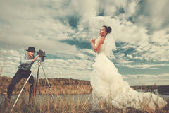 Casamento do vintage Imagens de Stock Royalty Free