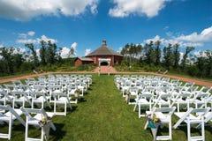 Casamento e recepção do celeiro na exploração agrícola fotos de stock