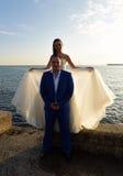 Casamento em dezembro Imagens de Stock Royalty Free