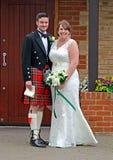 Casamento escocês imagens de stock royalty free