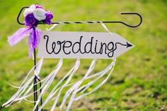 Casamento etiquetado seta Fotografia de Stock Royalty Free