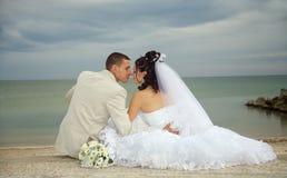 Casamento feliz fotografia de stock royalty free
