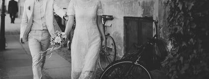 Casamento feliz, noivos junto Foto de Stock Royalty Free
