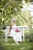 Casamento, homem novo feliz e comemoração da mulher Foto de Stock Royalty Free