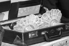 Casamento judaico candlesticks Fotografia de Stock
