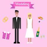 Casamento liso Fotos de Stock