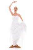 casamento Mulher engraçada da noiva running em sapatas do esporte fotos de stock