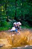 Casamento na motocicleta fotografia de stock