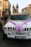 Casamento na praça da cidade velha pitoresca, Praga, República Checa Imagens de Stock