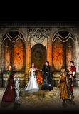 Casamento na terra da fantasia Imagem de Stock