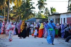 Casamento na vila, Zanzibar de Muslim´s Fotos de Stock Royalty Free