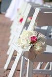 Casamento nupcial que anda abaixo do corredor Foto de Stock Royalty Free
