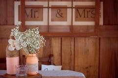 Casamento rústico Fotografia de Stock Royalty Free