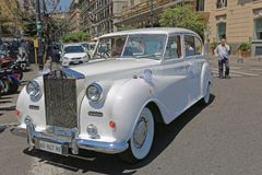 Casamento Rolls Royce imagem de stock royalty free