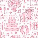 Casamento, teste padrão sem emenda da festa de anos ilustração royalty free
