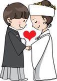 Casamento tradicional de Japão Imagem de Stock Royalty Free