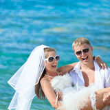 Casamento tropical foto de stock