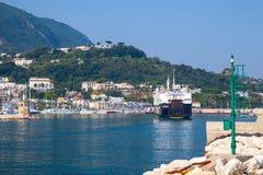 Casamicciola Terme port, Ischia island, ferry Stock Images