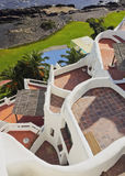 Casapueblo i Punta Ballena Arkivbilder