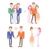 Casar-se dos pares do gay e lesbiana ilustração stock