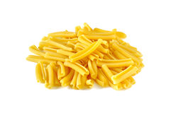 Casarecce, italian raw pasta Royalty Free Stock Photography