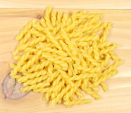 Casarecce pasta. Group of casarecce pasta on the wooden table Stock Image