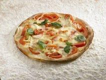 Casarecce pizza. Royalty Free Stock Photo