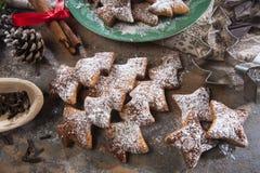 Casarecci di Natale di Biscotti Fotografie Stock Libere da Diritti