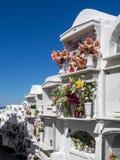 CASARES, ANDALUCIA/SPAIN - 5-ОЕ МАЯ: Взгляд кладбища в Casar Стоковые Изображения RF