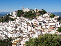 CASARES, ANDALUCIA/SPAIN - MAY 5 : View of Casares in Spain on M Royalty Free Stock Images